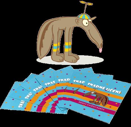 Eda amodré karty snadné učení