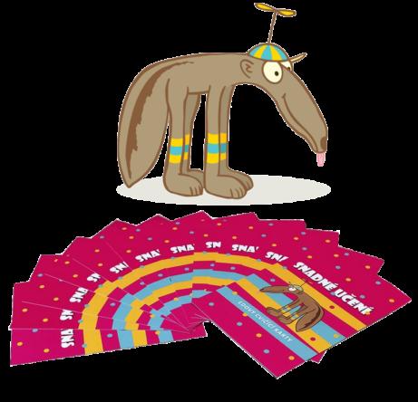 Eda arůžové karty snadné učení